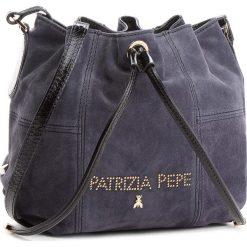 Torebka PATRIZIA PEPE - 2V8368/A4M9-F1UV Gray/Nero. Czarne torebki worki marki Patrizia Pepe, ze skóry. W wyprzedaży za 799,00 zł.