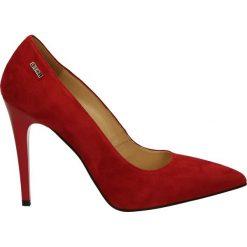 Czółenka - 1080 Z RO J17. Czerwone buty ślubne damskie Venezia, ze skóry. Za 199,00 zł.