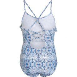 Stroje jednoczęściowe dziewczęce: Seafolly BOHO TILE RUFFLE TANK Kostium kąpielowy light blue