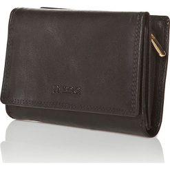 Portfele damskie: Skórzany portfel w kolorze czarnym - 8,5 x 12 x 3,5 cm