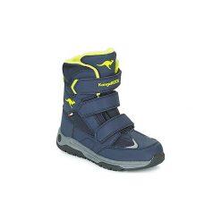 Śniegowce Dziecko Kangaroos  GORD V RTX. Niebieskie buty zimowe chłopięce KangaROOS. Za 259,00 zł.