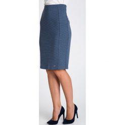 Spódniczki: Ołówkowa spódnica w mikrowzór QUIOSQUE