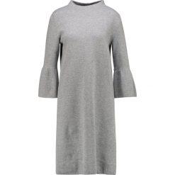 Sukienki dzianinowe: Betty & Co Sukienka dzianinowa light grey melange