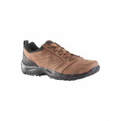 Skórzane buty męskie do szybkiego marszu Nakuru Confort brązowe. Brązowe buty fitness męskie marki NEWFEEL, z gumy. Za 249,99 zł.