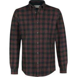 Shine Original Denver - Mouline Check Shirt Koszula burgund. Czarne koszule męskie marki Leonardo Carbone, s, z materiału, z długim rękawem. Za 121,90 zł.