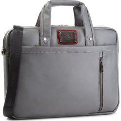 Torba na laptopa NOBO - NBAG-F0522-C019 Szary. Szare torby na laptopa Nobo, ze skóry ekologicznej. W wyprzedaży za 169,00 zł.