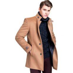 PŁASZCZ PSKS000051 PIERPAOLO. Brązowe płaszcze na zamek męskie Giacomo Conti, na jesień, m, eleganckie. Za 799,00 zł.