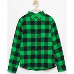 Odzież chłopięca: Flanelowa koszula w kratę – Zielony