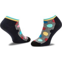 Skarpety Niskie Unisex HAPPY SOCKS - ATBDO05-9002 Granatowy Kolorowy. Niebieskie skarpetki męskie Happy Socks, w kolorowe wzory, z bawełny. Za 39,90 zł.