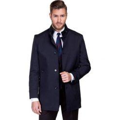 Płaszcz FLORIANO PSGS000047. Niebieskie płaszcze na zamek męskie Giacomo Conti, na jesień, m, z materiału. Za 699,00 zł.
