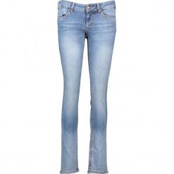 """Dżinsy """"Gina"""" - Slim fit - w kolorze błękitnym. Niebieskie jeansy damskie relaxed fit marki Mustang, z aplikacjami, z bawełny. W wyprzedaży za 173,95 zł."""