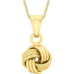 Naszyjniki damskie: Złoty naszyjnik z zawieszką - (D)46 cm