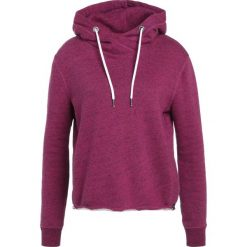 Bluzy rozpinane damskie: Superdry LUXE EDITION CROPPED Bluza z kapturem winter pink jaspe