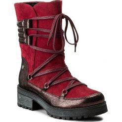 Kozaki EVA MINGE - Adora 2B 17MJ1372188EF II 634. Czerwone buty zimowe damskie Eva Minge, ze skóry. W wyprzedaży za 299,00 zł.