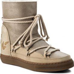 Buty INUIKII - Sneaker Wedge Crystal 30135 Fabric Cream. Brązowe buty zimowe damskie Inuikii, ze skóry. W wyprzedaży za 739,00 zł.