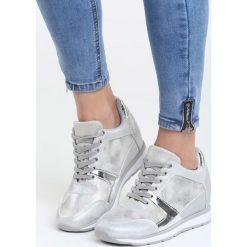 Szare Sneakersy Heavy Dance. Szare sneakersy damskie marki Born2be, z materiału. Za 89,99 zł.