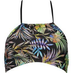 """Biustonosz bikini """"Tropic"""" w kolorze czarnym ze wzorem. Szare bikini marki Esprit. W wyprzedaży za 56,95 zł."""