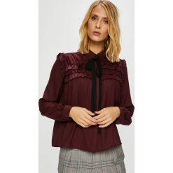 Vero Moda - Koszula Carmen. Szare koszule wiązane damskie marki Vero Moda, l, z poliesteru, casualowe, z klasycznym kołnierzykiem, z długim rękawem. Za 149,90 zł.
