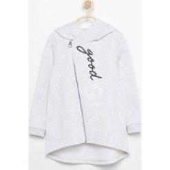 Bluzy dziewczęce rozpinane: Bluza z asymetrycznym zamkiem - Jasny szar