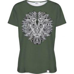 Colour Pleasure Koszulka damska CP-030 208 zielona r. XL/XXL. Zielone bluzki damskie marki Colour pleasure, xl. Za 70,35 zł.