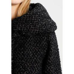 Vila VICAMA NEW Płaszcz wełniany /Płaszcz klasyczny black, mottled grey. Czarne płaszcze damskie pastelowe Vila, xs, z materiału, klasyczne. W wyprzedaży za 471,20 zł.