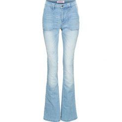 Jeansy damskie: Wygodne dżinsy ze stretchem BOOTCUT bonprix jasnoniebieski