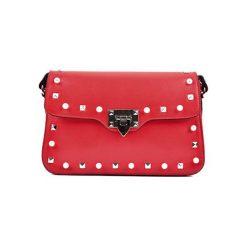 Torebki klasyczne damskie: Skórzana torebka w kolorze czerwonym – (S)18 x (W)27 x (G)8 cm