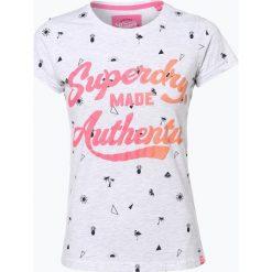 Superdry - T-shirt damski, szary. Szare t-shirty damskie Superdry, l, z nadrukiem. Za 79,95 zł.