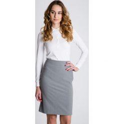 Minispódniczki: Szara ołówkowa spódnica z podszewką BIALCON