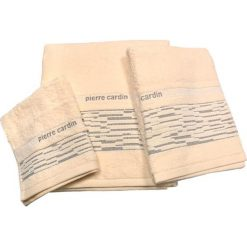 Kąpielówki męskie: 3-częściowy zestaw ręczników w kolorze beżowym
