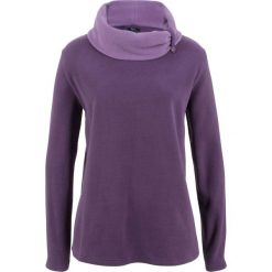 Bluza z polaru, długi rękaw bonprix ciemny lila. Fioletowe bluzy polarowe bonprix, z długim rękawem, długie. Za 49,99 zł.
