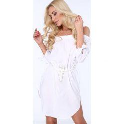 Biała Sukienka 3151. Białe sukienki Fasardi, m. Za 59,00 zł.