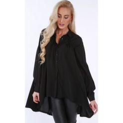 Czarna koszula na co dzień oversize 0221. Czarne koszule damskie marki Fasardi, m. Za 149,00 zł.