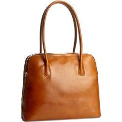 Torebka CREOLE - K10205 Koniak. Brązowe torebki klasyczne damskie marki ARTENGO, z materiału. W wyprzedaży za 229,00 zł.