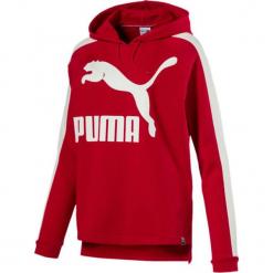 Bluza w kolorze czerwonym. Czerwone bluzy z kieszeniami damskie marki Puma, xs, z nadrukiem, prążkowane. W wyprzedaży za 113,95 zł.