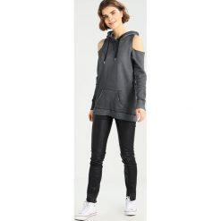 Bluzy damskie: Hollister Co. DESTROY Bluza z kapturem black