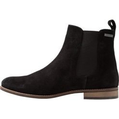 Superdry MILLIELOU CHELSEA  Ankle boot black. Czarne botki damskie skórzane Superdry. Za 419,00 zł.