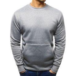 Bluzy męskie: Bluza męska kangurka szara (bx1882)