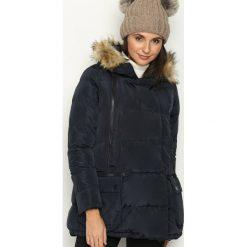Granatowa Kurtka Glorious. Brązowe kurtki damskie pikowane marki QUECHUA, na zimę, m, z materiału. Za 129,99 zł.