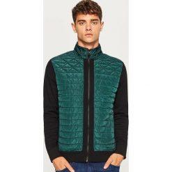 Bluza z pikowanym przodem - Khaki. Brązowe bluzy męskie rozpinane marki Reserved, l, z kapturem. Za 99,99 zł.
