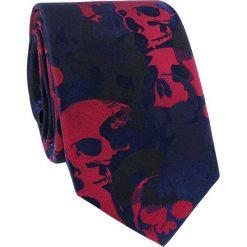 Krawat jedwabny KWCR000217. Czerwone krawaty męskie Giacomo Conti, z jedwabiu. Za 129,00 zł.