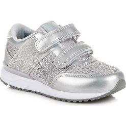 Buty dziecięce: TRAMPKI NA RZEPY AMERICAN American Club odcienie szarości i srebra