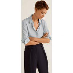 Mango - Koszula Basicp. Szare koszule damskie Mango, l, z materiału, klasyczne, z klasycznym kołnierzykiem, z długim rękawem. Za 89,90 zł.