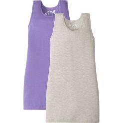 Sukienki dziewczęce: Sukienka shirtowa (2 szt. w opak.) bonprix naturalny melanż + jasny lila
