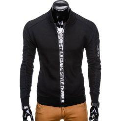 Bluzy męskie: BLUZA MĘSKA ROZPINANA BEZ KAPTURA B739 – CZARNA