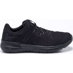 Under Armour - Buty Thrill 3. Czarne buty do biegania męskie marki Under Armour, z materiału, na sznurówki. W wyprzedaży za 239,90 zł.