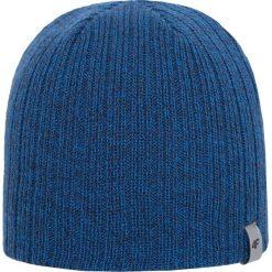 Czapka męska CAM262Z - granatowy ciemny - 4F. Niebieskie czapki zimowe męskie 4f, na jesień, z materiału. Za 22,99 zł.