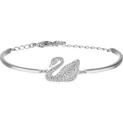 Swarovski SWAN BANGLE  Bransoletka crystal/silver colored. Szare bransoletki damskie marki Pandora, srebrne. Za 549,00 zł.