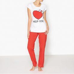 Piżama z nadrukiem, Lovelies. Białe piżamy męskie marki B'TWIN, m, z elastanu, z krótkim rękawem. Za 88,16 zł.