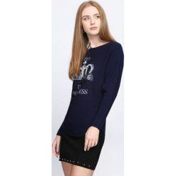 Granatowy Sweter Queen's Crown. Niebieskie swetry klasyczne damskie Born2be, l, z okrągłym kołnierzem. Za 49,99 zł.